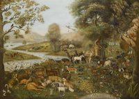 John Miles af Northleach: 'Adam navngiver dyrene' (u.å. - 1800-tallet)