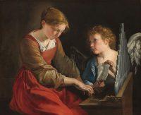 Orazio Gentileschi 'Den hellige Cecilie og en engel' (1617-18)